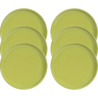 Yourcull Microwave Safe Unbreakable Food Grade Round Virgin Plastic Dinner Plates Set of 6
