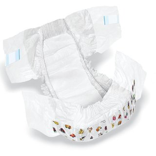 SHI Super Soft Non Woven Premium Baby Diaper Pack of 50 Pcs - Small