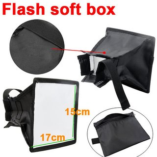 15 x 17cm Universal Cloth Flash Bounce Diffuser for Canon Nikon Sony yongnuo