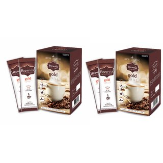 Brewvia Instant Coffee Powder - Premix Coffee Sachets - Sugarfree Coffee Powder For Hot And Cold Coffee
