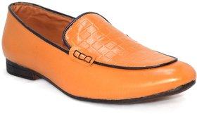 Blue Pop Men's Tan Loafers