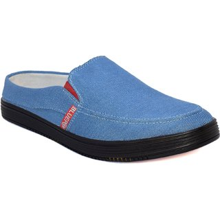 Blue Pop Men's Sky Blue  Loafers