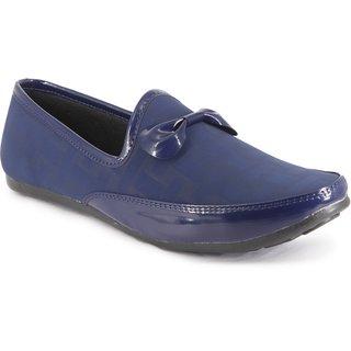 Blue Pop Men's Navy Loafers