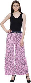 Women's Stretchable Belted Printed Palazzo