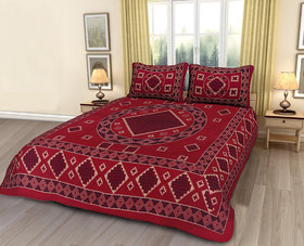 Divinity Cotton Double Bedsheet with 2 Pillow Covers