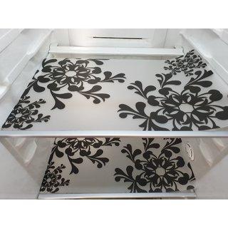 NIVS PVC Vinyl Designer Fridge Mats / Multi Purposes Mats (3 Pc Set) Size 33x48 cm