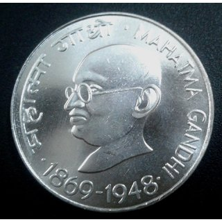 REPUBLIC INDIA TEN RUPEES 10 RUPEESS MAHATMA GANDHI 1869-1948 UNC COIN