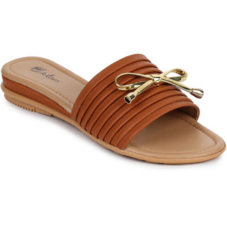 Picktoes Women's Tan Flats