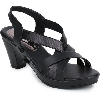 Picktoes Women's Black Block Heels