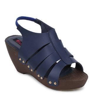 Picktoes Women's Navy Blue Wedges Heels