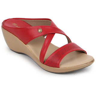 Picktoes Women's Red Wedges Heels
