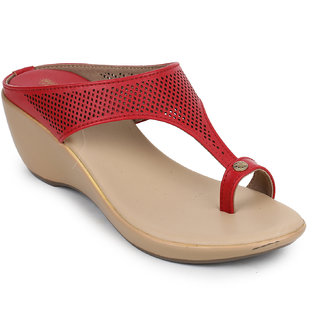 Picktoes Women's Red Wedges Heels