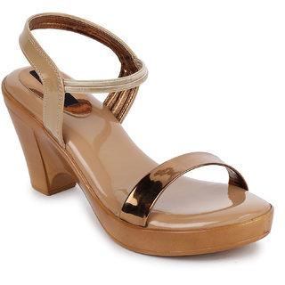 Picktoes Women's Tan Block Heel