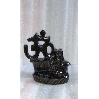 Backflow incense burner (om)
