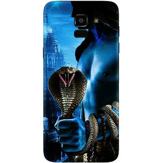 PEEPAL Samsung Galaxy J6 Designer & Printed Case Cover 3D Printing Lord  Shiva Design