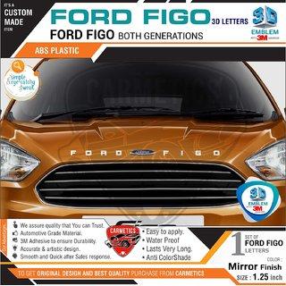 Buy Carmetics Ford Figo 3d Letters For Ford Figo Mirror Finish