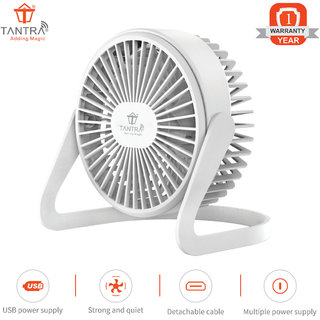 TANTRA Wave Portable Mini USB Cooling Fan for Office Home Outdoor Travel Use
