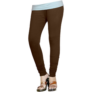 Naisargee Women's and Girl's Brown Silk Chudidar Length Leggings -(XXXL Size)