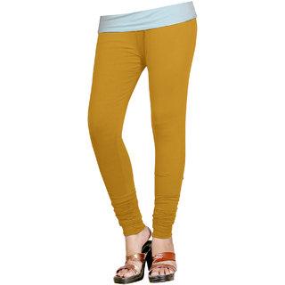 Naisargee Women's and Girl's OatColor Silk Chudidar Length Leggings -(XXXL Size)