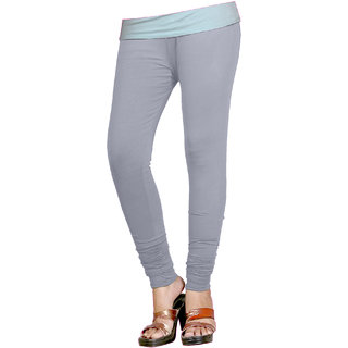 Naisargee Women's and Girl's Grey Silk Chudidar Length Leggings -(XXXL Size)