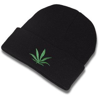 DRUNKEN Men s Winter Cap Woolen Plain Beanie knit Cap Black Freesize Warm  Cap 0f9a1dae615