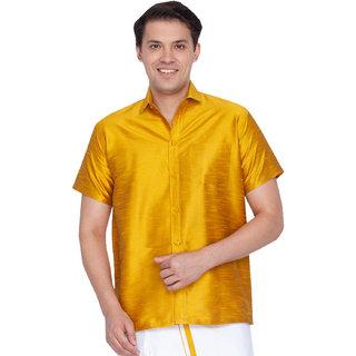 bf5f7fe7c47467 Buy Vastramay Men Yellow Cotton Silk Ethnic Shirt Online   ₹559 ...
