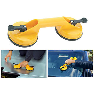 Double Suction Cup Pullers Auto Dent Carry Glass
