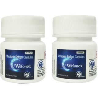 World Class Welonox Sleeping Pills - Sleeping Tablets For Adult - Non Habbit Forming (Pack Of 2)