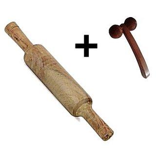 Desi Karigar Hand Made Wooden Belan Rolling Pin Kitchen Utensils