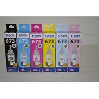 Original Epson T673  Black/Cyan/Yellow/Magenta/Light Cy