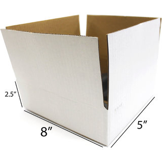 fc928a9b33c Buy SPP White Packaging Corrugated 8 x 8 x 2.5 inch 3 Ply Pack of 25 Boxes  for Gift Picture Mirror Books Online - Get 20% Off