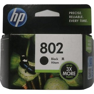 HP 802 ink Single Color Ink Cartridge Black