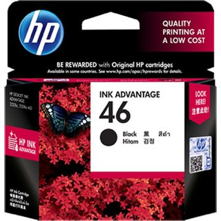 HP 46 Single Color InkCartrige (Black)