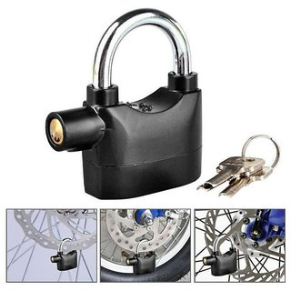 Antitheft Motion Sensor Security Padlock Siren Alarm Lock For Motor, Bikes, Home, Office etc. - ALRMLOCK6