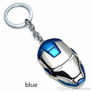 Iram Man Face Metal Key Chain (Red , Blue )