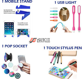 Combo Of 4 In 1 Mobile Accessories  (1 Mobile Stand + 1 - 141696956