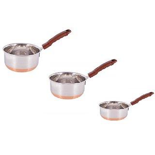 3 pc pot pan set ( copper bottom )