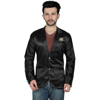 TODAY FASHION Black Satin Party Wear Blazer For Men's