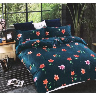Welhouse India Super Soft Cotton King size Double Bed Sheet With 2 Pillow Covers _SPA-15