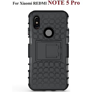 Japang Defender Back Cover Kick Stand Case For Redmi Note 5 Pro Mobile