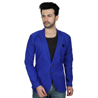 TODAY FASHION Blue Imported Cotton Blazer For Men's