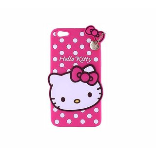 STUDOZ Cute Hello Kitty Silicone with Pendant Back Case Cover for Oppo Realme 1 Pink