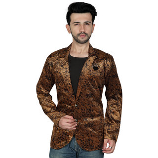 TODAY FASHION Satin Smooth Casual Wear Blazer For Men's