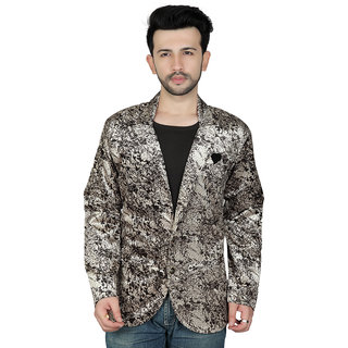 TODAY FASHION Multi Print Casual Blazer For Men's