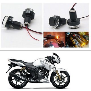 AutoStark 2X Motorcycle DRL/Turn Signal LED Light Blinker Indicator Handle Bar End For TVS Apache RTR 180