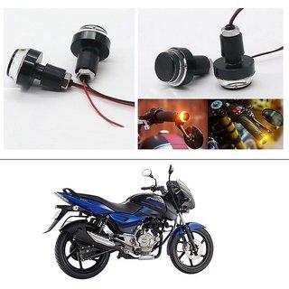AutoStark 2X Motorcycle DRL/Turn Signal LED Light Blinker Indicator Handle Bar End For Bajaj Pulsar 150