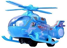 AKSHATA  Musical Force Helicopter Toy, Bump and Go Action, Lights and Music Multi Color