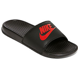 f4b1cd464358 Buy Nike Black Slide Flip Flop Online - Get 76% Off
