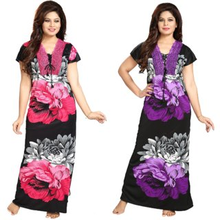 DILJEET Women's Night Gown Combo
