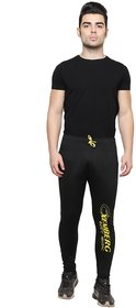 Ishu Black Cotton Trackpant For Men
